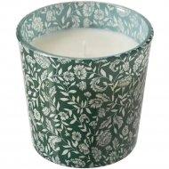 Ароматическая свеча в стакане «Медкэмпэ» зеленая, 7,5 см.