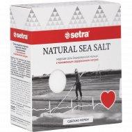 Соль морская «Setra» с пониженным содержанием натрия, 500 г.