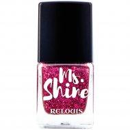 Лак для ногтей «Ms. Shine» тон 5, sparkly ruby, 6 мл.