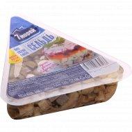 Сельдь «7 морей» филе-кусочки в масле, 340 г.