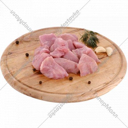Полуфабрикат из мяса индейки «Гуляш из мяса индейки» 1 кг., фасовка 0.7-1.1 кг