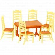 Набор мебели для кукол «Полесье» №6, 7 элементов.