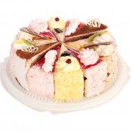 Торт «Белая орхидея» ассорти, 1 кг