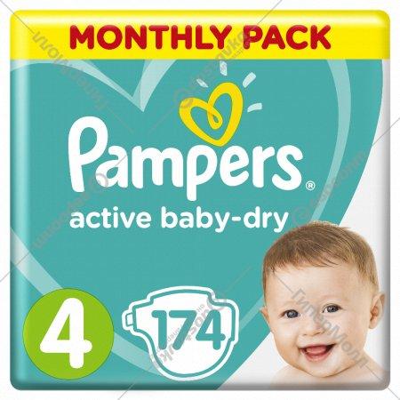 Подгузники детские «Pampers» Active baby-dry, 9-14 кг, размер 4, 174 шт.
