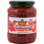 Томаты неочищенные «Разносольников» в томатной заливке, 670 г.