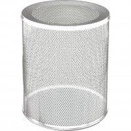 Корзина для бумаг «Титан Мета» 250, низкая, перфорированная, белый