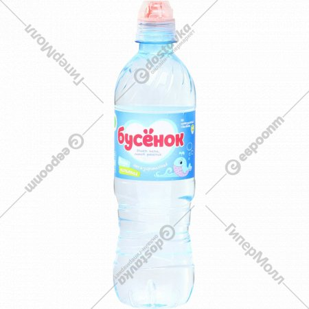 Вода питьевая «Бусёнок» негазированная, 0.5 л.