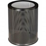 Корзина для бумаг «Титан Мета» 250, низкая, перфорированная, черный