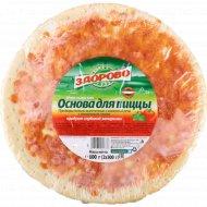 Основа для пиццы «Живи здорово» с томатным соусом, 560 г.