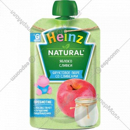 Пюре «Heinz» из яблок со сливками и сахаром 90 г.