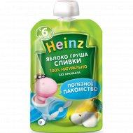 Пюре «Heinz» из яблок и груш, со сливками, с сахаром, 90 г.