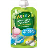 Пюре «Heinz» из яблок и груш со сливками с сахаром 90 г.