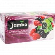 Чай чёрный байховый «Jambo» с ароматом лесных ягод, 20х1.2 г.