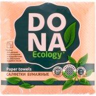 Салфетки бумажные «Dona Ecology» 230х230 мм, 100 шт