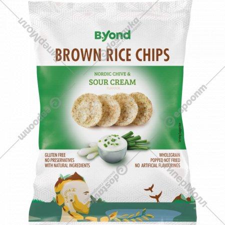 Чипсы «B.Yond» со вкусом сметаны и северного зелёного лука, 70 г.