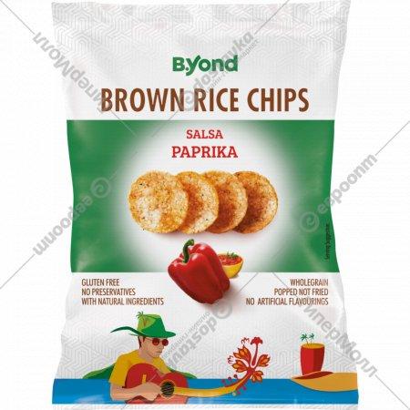 Чипсы рисовые «B.Yond» цельнозерновые со вкусом сальса паприки, 70 г.