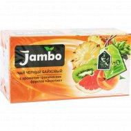 Чай чёрный байховый «Jambo» экзотик, 20 пакетиков.