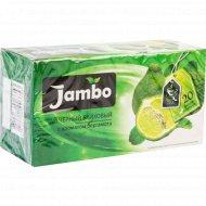 Чай чёрный байховый «Jambo» бергамот, 20х1,2 г.