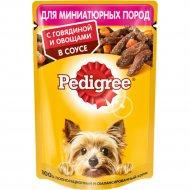 Корм консервированный для собак «Pedigree» с говядиной в соусе, 85 г.