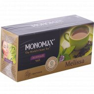 Чай зеленый «Мономах» melissa, 20 пакетиков.