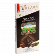 Шоколад горький «Villars» с подсластителями, 100 г.