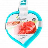Форма для пирога «Сердце» силиконовая, 23 см.