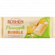 Шоколад белый пористый «Roshen» со вкусом ананаса, 80 г.