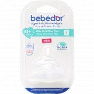Соска силиконовая «Bebe D'or» для бутылочек.
