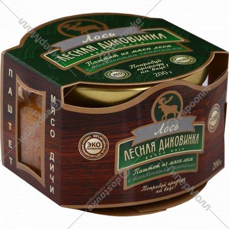 Паштет «Лесная диковинка» из мяса лося с тыквенными семечками, 200 г.