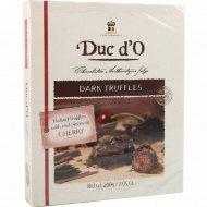 Бельгийские трюфели «Duc d'О» горький шоколад с вишней, 200 г.