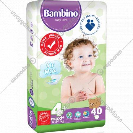 Подгузники детские «Bambino» размер 4+, 9-20 кг, 40 шт.
