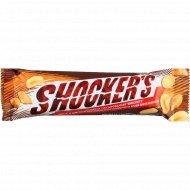 Шоколадный батончик «Shocker's» со сливочным ароматом, карамелью и арахисом, 45 г