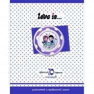 Набор цветного картона «Love is» А4, 10л.