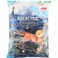 Креветки «Fish & More» варено-мороженые, беспозвоночные, 750 г.