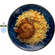 Котлеты рубленые из кролика с булгуром и овощами, 100/150 г .