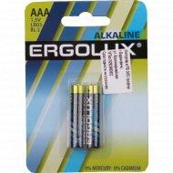 Элементы питания «Ergolux» ААА, LR3 BL-2 шт.