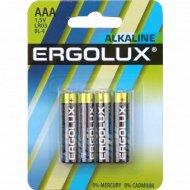 Элемент питания «Ergolux» LR3 BL-4.