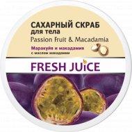 Сахарный скраб для тела «Fresh Juice» маракуйя и макадамия, 225 мл.