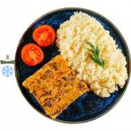 Печень куриная тушеная с овощами и кус-кусом, замороженная, 150/150 .