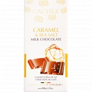 Шоколад молочный «Kim's» с карамелью и морской солью, 100 г.