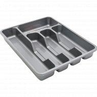 Лоток для столовых приборов пластмассовый 33х27х4 см.