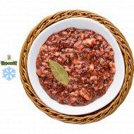 Полуфабрикат из субпродуктов «Фарш из печени говяжьей для оладий» 1/500 .