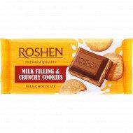 Шоколад «Roshen» с молочной начинкой и печеньем, 115 г.