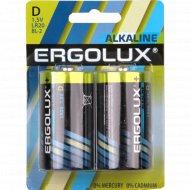 Элемент питания «Ergolux» LR20 BL-2, D.