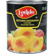 Персики «Lorado» половинки в легком сиропе, 850 мл.