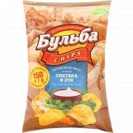 Чипсы «Бульба Chips» со вкусом сметаны и лука, 150 г.