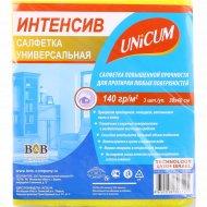 Салфетка «Unicum» универcальная 3 шт/уп, 1/24.