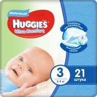 Подгузники «Huggies»Ultra Comfort для мальчиков,размер 3, 5-9 кг,21шт.