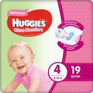 Подгузники «Huggies» Ultra Comfort, размер 4, 8-14 кг, 19 шт.