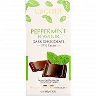 Шоколад горький «Kim'S» с мятными криспами 57%, 100 г.